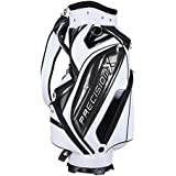 TRIPREL INC. High Quality 5-Way Golf Club Stand Carry Bag W Bag Cap - White W Black Trim