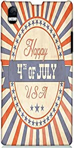 Snoogg Independence Day Greeting Card In Vintage Style Designer Protective Ba...