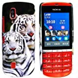 CONTINENTAL27 For Nokia Asha 300 Unique Design Snow Tiger Face Printed Plastic Hard Shell Protective Back Fits Skin Case Cover