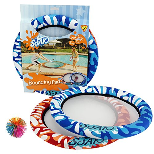 Soak Bouncing Rainbow Ball and Discs Set Colors Vary, Super Bouncy, Cool Design for Family Fun