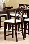 Coaster Counter Height Bar Stools Pacific Cappuccino Wood
