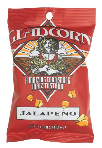 Buy GLAD CORN Jalapeno Flavored A-maizing Corn Snack, 4 Ounce Bag (Pack of 24) (Glad Corn, Health & Personal Care, Products, Food & Snacks, Snacks Cookies & Candy, Snack Food, Chips, Corn Chips)