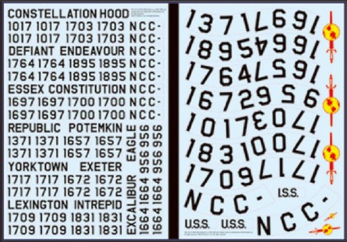 1/350 Star Trek USS Enterprise Registry Decals