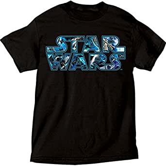star wars big boys classic logo t shirt clothing. Black Bedroom Furniture Sets. Home Design Ideas