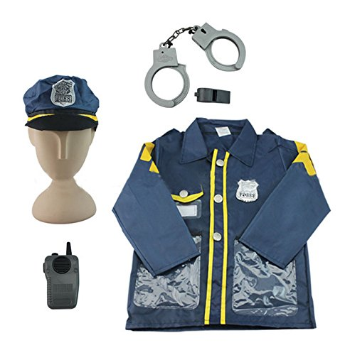 Police Officer Costume - iPlay, iLearn Police Officer Costume Role Play Costume Set