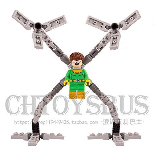 Doctor Octopus Otto Spider-Man Super Heroes DIY Blocks Minifigures Kids Toys UJ