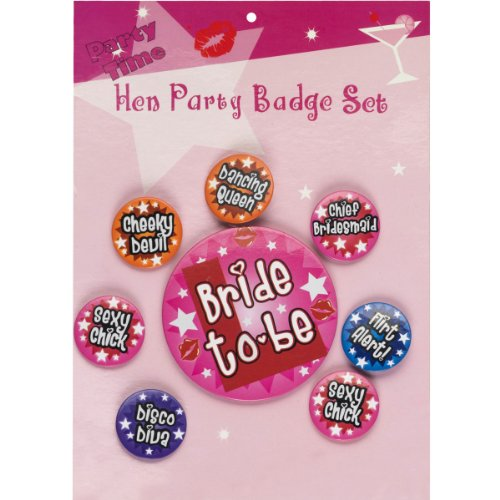 Hen Night Badge Set - 8 Pack