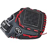 Rawlings  Youth Players Series Glove, Black/Grey/Red, 11