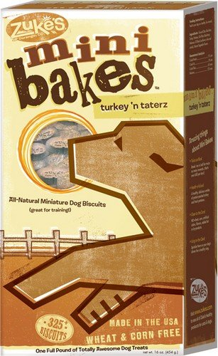 Zuke's 16-Ounce Mini Bakes Dog Treats, Turkey n' Taterz
