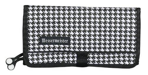 Messermeister 10-Pocket Padded Gadget Roll, Houndstooth