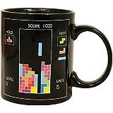 niceeshop(TM) Black Tetris Heat Temperature Sensitive Color Change Mug Glass Cup