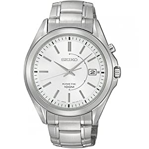 Seiko Men's Automatic Watch with Silver Dial Analogue Display and Silver Stainless Steel Bracelet SKA519P1