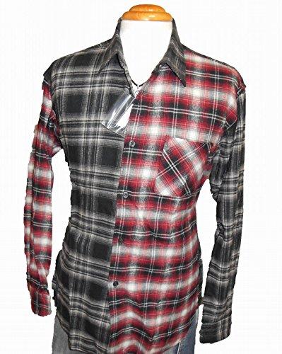 アーバンリサーチ ネルシャツ 赤黒チェック URBAN RESEARCH メンズ 冬物 長袖シャツ