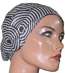 Apparelsonline 100%COTTON Shimmer UNDER SCARF BONNET CAP HIJAB BANDANA HAIR LOSS Chemo