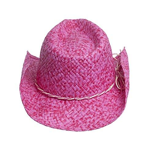 pink womens straw toyo cowboy hat rodeo