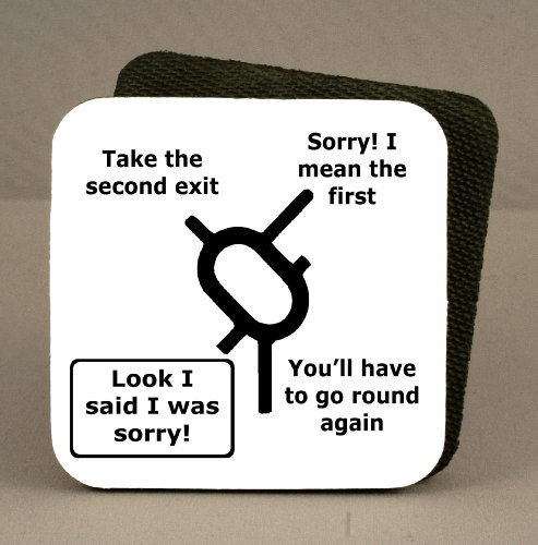 Sale alerts for Wizthings Funny Coaster - Sat Nav Joke - Covvet