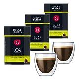 Douwe Egberts L'OR Espresso Lungo Elegant, 3 x 10 capsules, Nespresso compatible + 2 Bodum Pavina Espresso Glasses