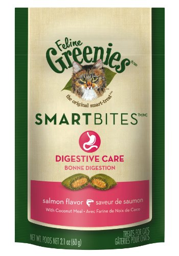 Greenies Smartbites Digestive Care Salmon Cat Treats, 2.1-Ounce