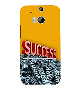 printtech Cool Quotes Success Back Case Cover for HTC One M8::HTC M8