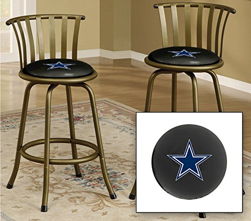 Dallas cowboys bar stools buy online popular dallas cowboys bar bronze finish 24 or 29 adjustable bar stool featuring dallas cowboys nfl team logo watchthetrailerfo