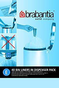 Brabantia Bin Liner E, 20 Litre - 40 Bags