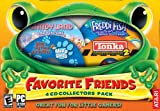 Favorite Friends 4-Game Collectors Pack: Freddi Fish - The Case of the Haunted Schoolhouse, Blues Clues - Blues 123 Time Activities, Tonka Contruction 2, and Candyland Adventure