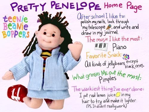 TY Teenie Beanie Bopper - PRETTY PENELOPE - 1