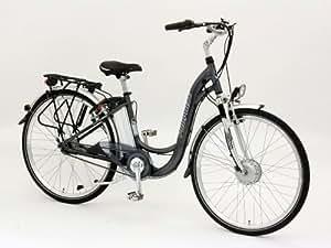 """Elektrofahrrad mit 2 Akkus 26er PROPHETE TRIO Alu-Elektro-Fahrrad, 45 cm Rahmen 26"""" (66cm Rad) 7 Gang"""