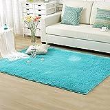 Bluelans® Solid Color Blue Shag Area Rug Rugs Bedroom Door Floor Mat 50cm...