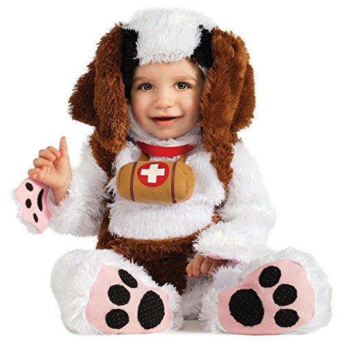 [GSG St. Bernard Baby Costume Cute Puppy Dog Halloween Fancy Dress] (St Bernard Baby Costumes)