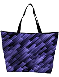 Snoogg Abstract Violet Background Waterproof Bag Made Of High Strength Nylon
