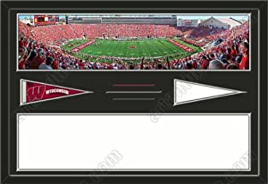 Wisconsin Badgers Camp Randall Stadium & Your Choice Of Stadium Panoramic... by Art and More, Davenport, IA