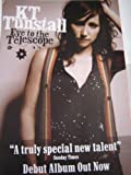 KT TUNSTALL EYE TO THE TELESCOPE 28 X 20 approx INCHES POSTER