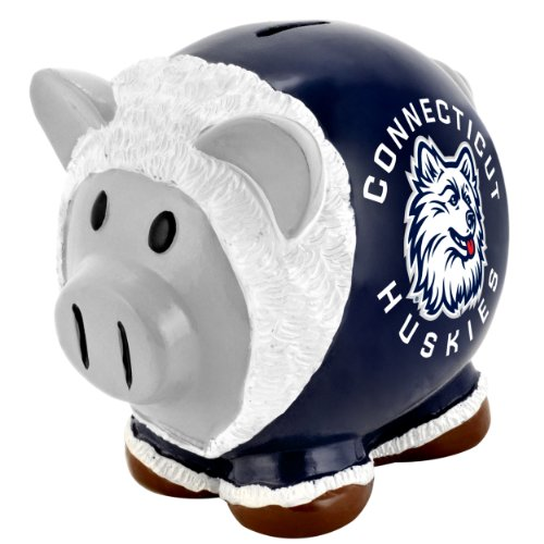 NCAA Connecticut Huskies Resin Large Thematic Piggy Bank - 1