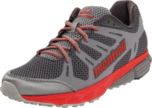 Montrail Women's Badwater Trail Running Shoe,Charcoal/Poppy Red,6.5 M US