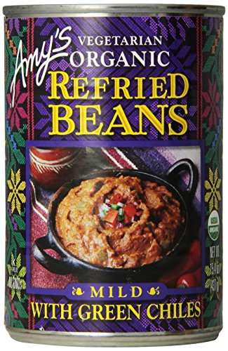 Amy's Vegetarian Organic Refried Beans, Mild with Green Chiles, 15.4 Ounce (Pack of 12) (Amy Organic Chili compare prices)