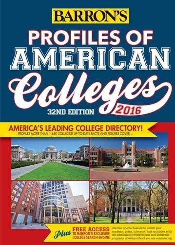 Profiles of American Colleges 2016 (Barrons College Division)