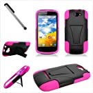 Blu Dash 4.5 T-Stand Cover Hot Pink and black Included Free Cover U Stylus Touch Screen Pen
