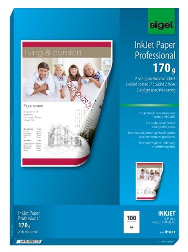 papier jet d'encre, format A4, 170 g/m2, extra blanc mat, revêtement sur 2 faces, neutre, pour i...
