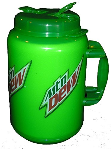 100 Ounce Insulated Mountain Dew Travel Mug Huge Giant Big Super Size Jumbo Mug