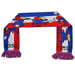 Adidas - Fußball-Schal - Motiv WM 1998 Frankreich - Blau/Weiß/Rot - Einheitsgröße