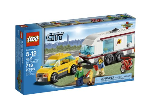 LEGO City Town Car and Caravan 4435 (Lego Truck And Camper compare prices)