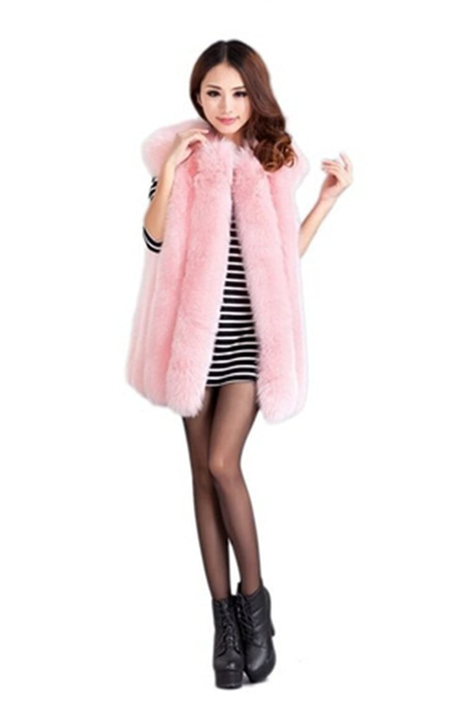 YR Lover Damen Warm Echter Ganze Haut Fuchs Pelz Weste Gilet jetzt kaufen