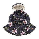 (オチェーンタ)OCHENTA 子供服女の子 冬 コート 中綿ジャケット アウター ベンチコート ピンク 冬防寒 ブルー 104cm