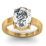 jaipurforyou Certified White zircon 10 cts or 11.25 ratti ring