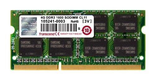Gigabyte 25SD4-6004G3-T3R Transcend Arbeitsspeicher 4GB (1666MHz, CL11, 204-polig) DDR3-RAM