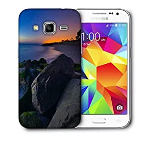 Snoogg Nite Beach View Printed Protective Phone Back Case Cover For Samsung Galaxy CORE PRIME