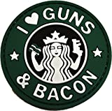 I Love Guns and Bacon Patch (Green)