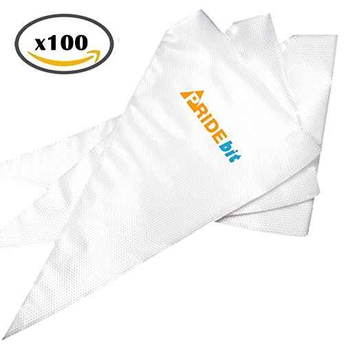[Upgraded Version] Pridebit Pastry Bag Large [100 Pack 16 ...
