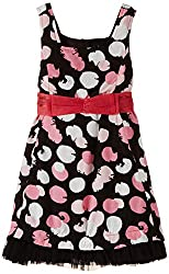 Herberto Girl's Party and Evening Dress (HRBT-DRESS028-3_Multicolor_7-8 years)